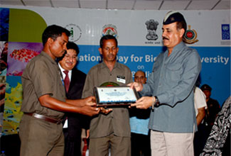 Receiving India Biodiversity Awards 2014